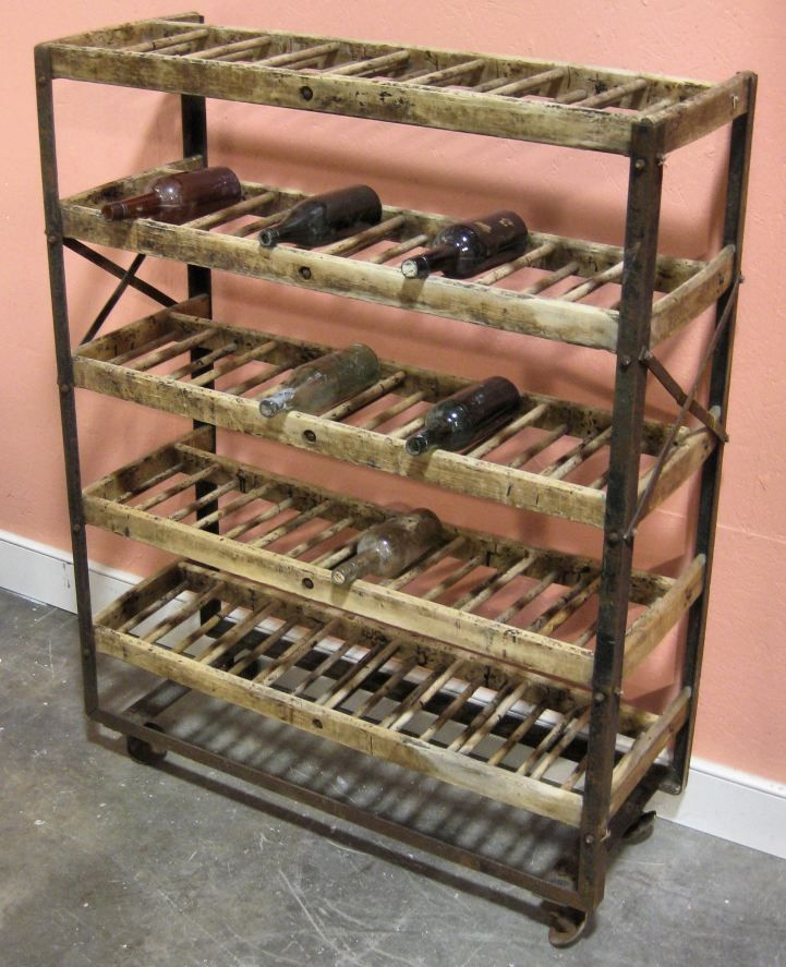 Vintage Shoe Rack For Wine Storage Via Artefacts Spaces