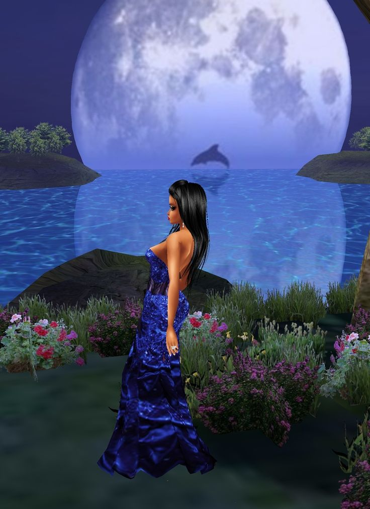 it a girl chillin it the chat call blue moon it is for all the people who dont have imvu make a account