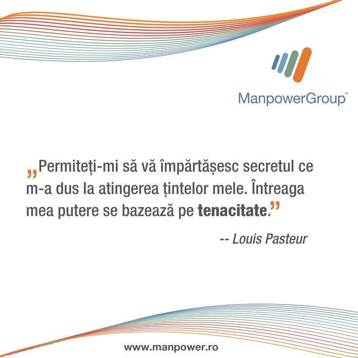 Pasteur despre atingerea telurilor.