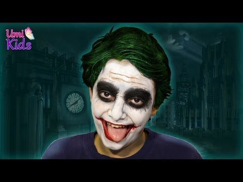 Batman Joker Makyajı - Makyaj Yapma Teknikleri - UmiKids Makyaj Videoları - YouTube