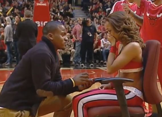 And That's How You Pop The Question! Man Delivers Darling Proposal During Bulls-Heat Game