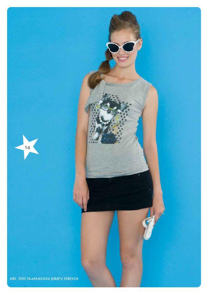 #Tshirt Smanicata Jersey Stretch #LollyStar - Scopri tutta la collezione #SpringSummer qui --> http://www.lollystar.it/