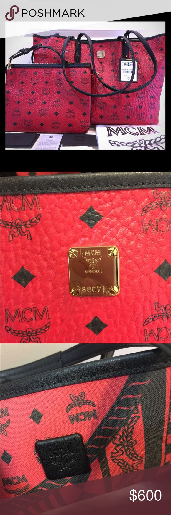 MCM Shopper Project Visetos Reversible Medium Tote 💯% Authentic MCM Shopper Project Visetos Reversible Medium Tote Bag. The bag come with pouch, care card, certificate card and dust bag. Brand new!!! MCM Bags Totes