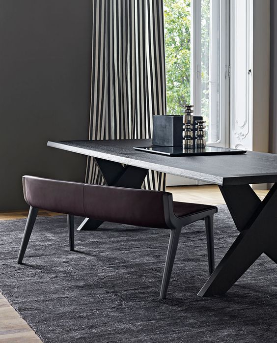 Dark Dining Room Modern Ideas Chair椅子 Pinterest Bench