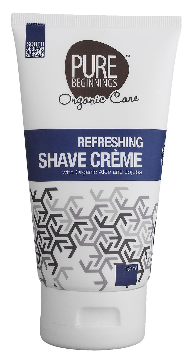 150ml - REFRESHING SHAVE CREAM -  with organic aloe & jojoba  **This shave crème is designed to leave you feeling refreshingly cool after your shave, whilst not drying out your skin.  **Jojoba oil will moisturise the skin, retard water loss and enhance skin flexibility and suppleness.  **Aloe soothes the skin after shaving and helps to prevent ingrown hair.