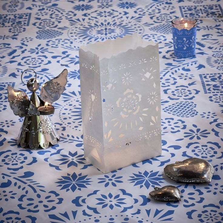 angels as candle holders paper candle bag with papel
