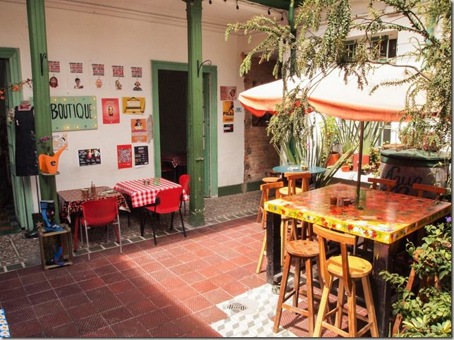 A Seis Manos cafe/bar/boutique/artspace/gig venue in Bogota, Colombia