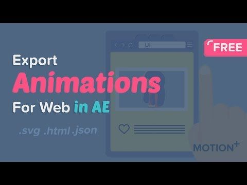 25) How to use BodyMovin to export animations for web To SVG,JSON