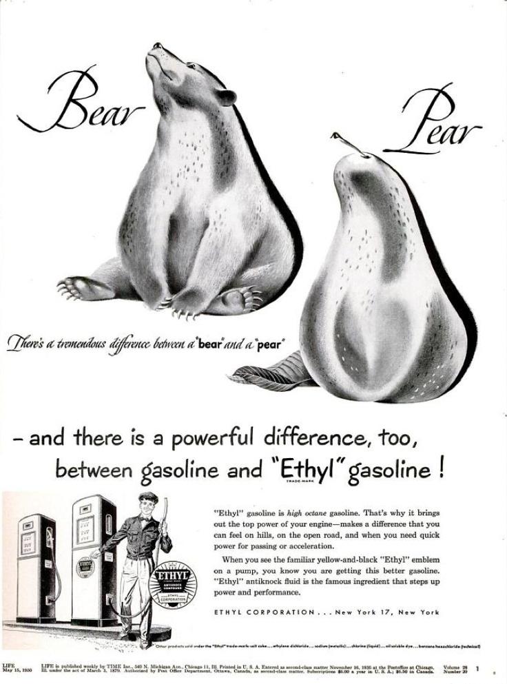 1950s Ethyl Gasoline Ads
