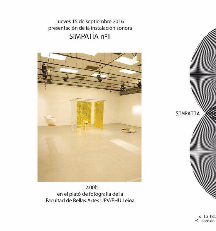 #hoyeseldia #defensaTFM #soundinstallation #mercejaramuns #interactive #sound (at Facultad De Bellas Artes UPV)