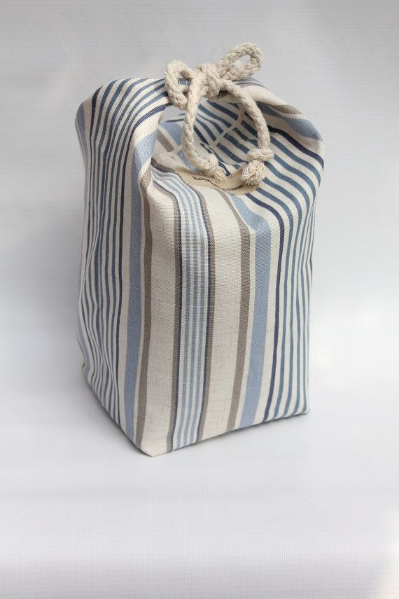 Nautical Stripes Door Stop Blue White Coastal by RaggedHome & 25+ unique Door stopper ideas on Pinterest | Cat pattern Peso de ... pezcame.com