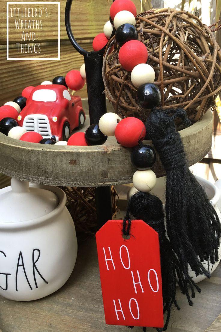 Farmhouse Christmas Beads in 2020 Christmas bead