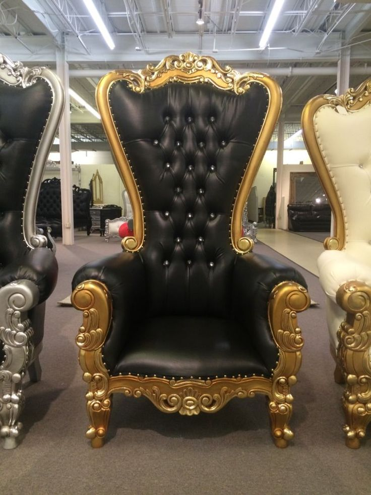 Carved Mahogany Louis XV King Armchair Regal Throne Chair