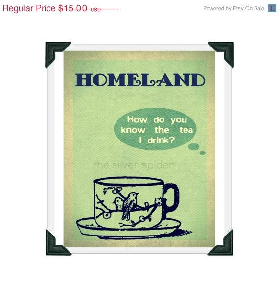 labor day fall sale // Homeland Tv Show Poster  by TheSilverSpider, $12.00