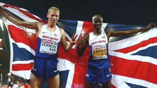 Andy Vernon and Mo Farah