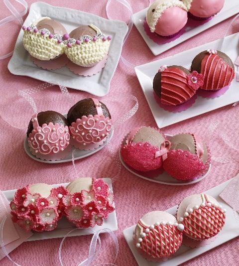 Bra cupcakes breast cancer cupcakes