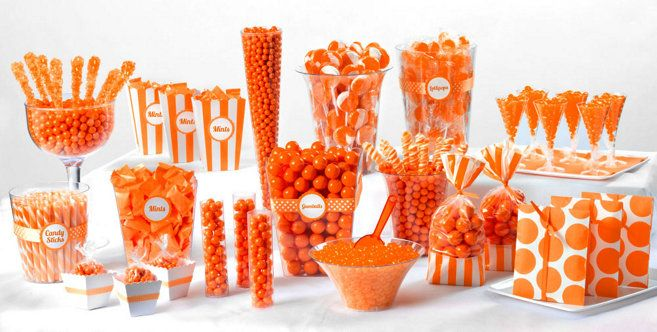Orange Candy Buffet - Party City