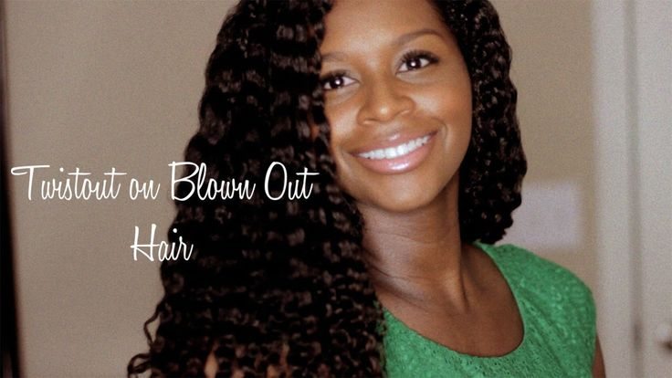 Twistout on Blown Out Hair *BEST TWISTOUT OF 2013*