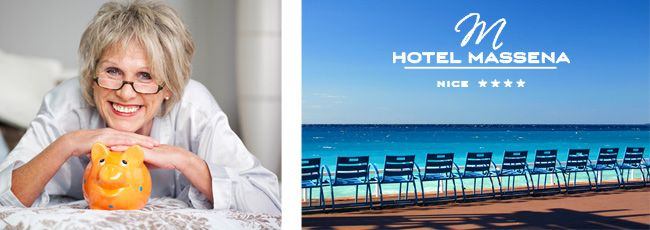 PROMOTION FOR PEOPLE OF 55 YEARS AND MORE Official blog – Hotel Massena Nice – 4-star hotel Nice city centre – French Riviera – Place Massena – Promenade des Anglais