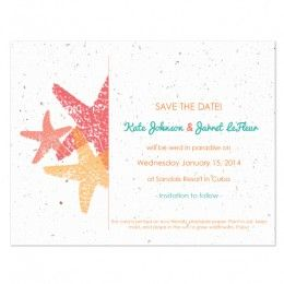 Plantable save-the-date cards! How cool :)
