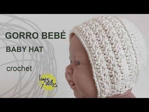 Tutorial Gorro Vintage Bebé Crochet o Ganchillo - YouTube