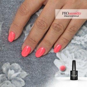 Lakier hybrydowy PROnail 501 -(neonowo - pastelowy róż ) - piękny kolorek, który będzie