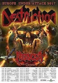 Long Live The Loud 666: DESTRUCTION EUROPE lanzamientos destrucion con dimencion de desaparcion aserse nada fututro y año 10 UNDER ATTACK 2017 WITH NERVOSA