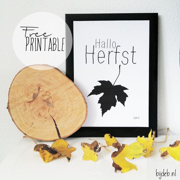 Free printable Hallo Herfst