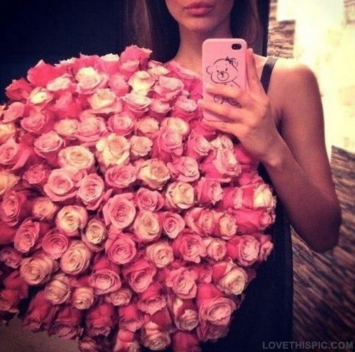 Pink Dozen of Roses beautiful pink flowers pretty roses...WISHING ONE DAY A GET A DELIVERY LIKE THIS HAHA..