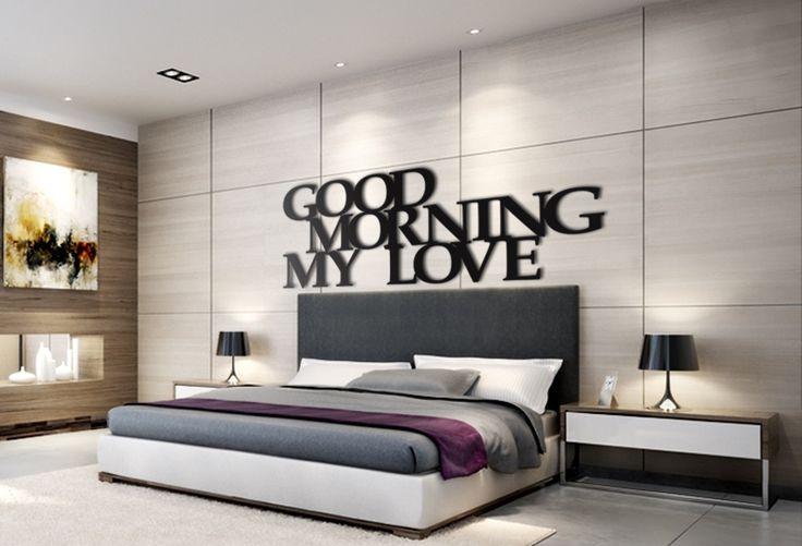 Good morning my love - napis 3D. Idealny pomysł na ozdobę ściany w Twojej sypialni.