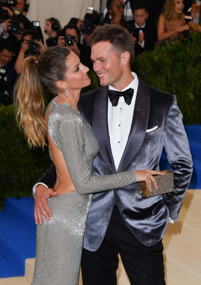 Met Gala 2017: les robes, les couples et les excentricités qu'il ne fallait pas rater - La top Gisèle Bündchen et son mari, Tom Brady.© Getty