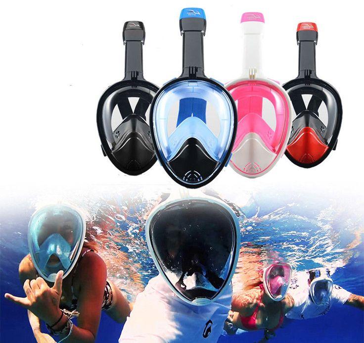 180° Full Face Snorkeling Mask Diving Goggles Snorkel Set