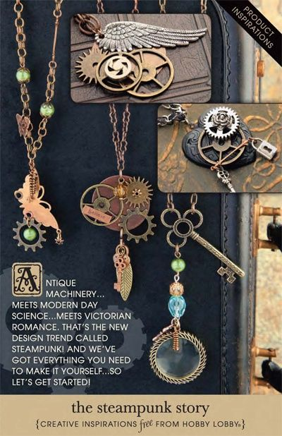 those are good steampunk necklaces for inspiration