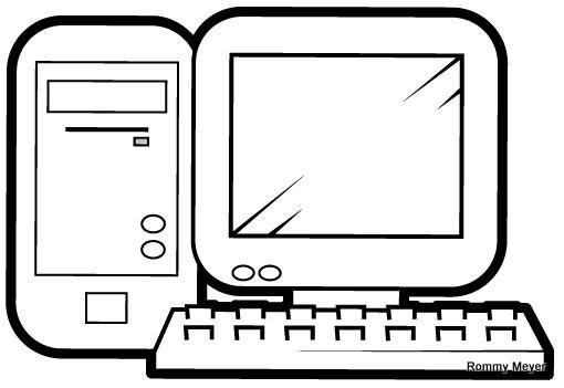 Dibujos De Computadoras Para Imprimir Y Pintar Colorear Imagenes Computer Lessons Computer Teacher Interactive Notebooks