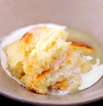 Self-saucing lemon pudding