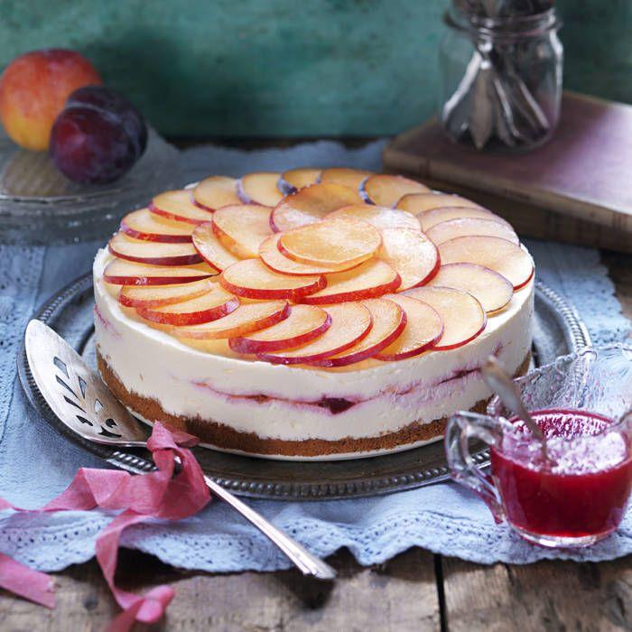Frozen cheesecake med plommon