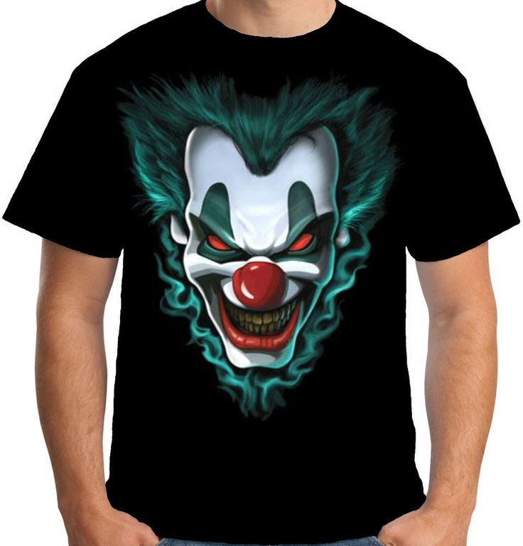Skull, Joker, Clown, Jester, Mens Tshirt, Joker Tshirt, Skull Illustration, Clown Tshirt, Jester Tshirt, Clothing Apparel, Tshirt, Red