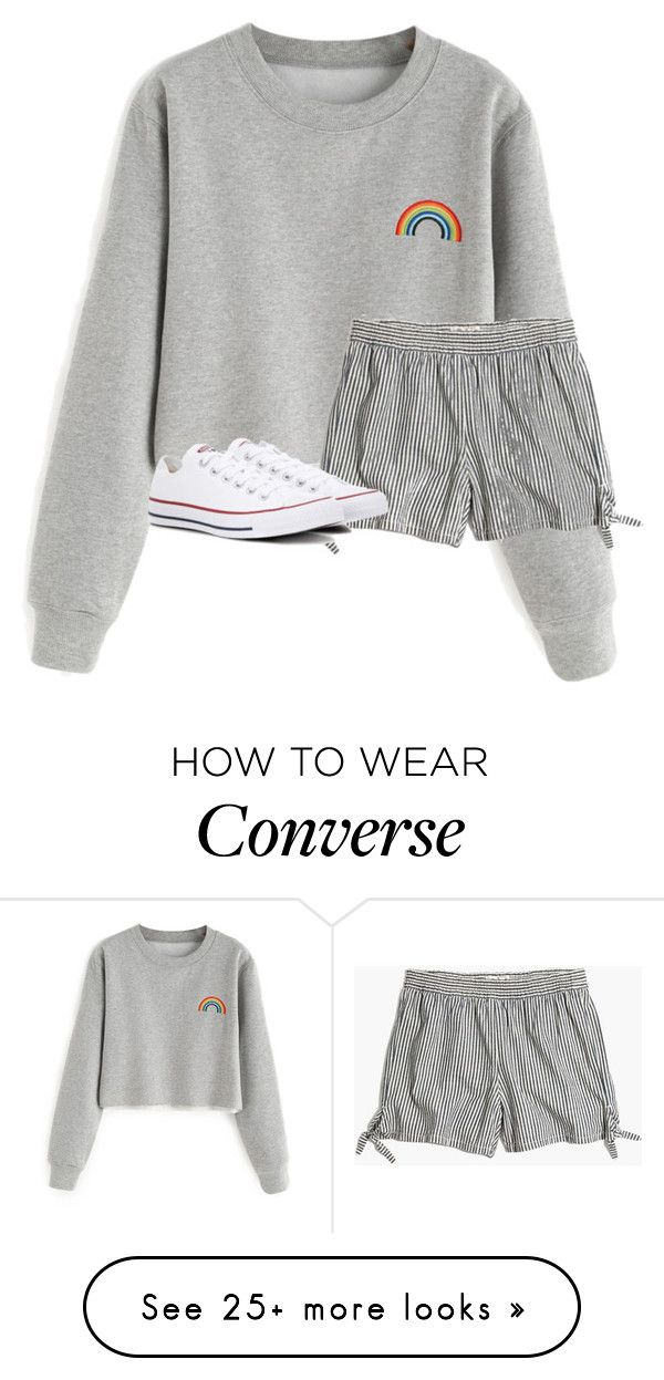 """""""Untitled #3372"""" by laurenatria11 on Polyvore featuring Madewell and Converse"""