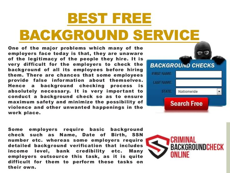 free background check for dating Dating background checks wymoo® international offers private investigations and online dating background check investigations for individuals in over 100 countries worldwide with professional field investigators, agents and support staff around the world, we verify relationships begun over the internet or via online dating.
