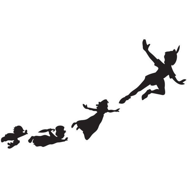 Peter Pan Flying Shadows Set of Wall Clings SHIPS FREE! ❤ liked on Polyvore featuring disney and filler