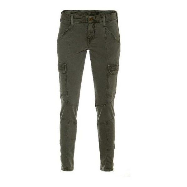 J Brand Houlihan Skinny Cargo Pants Olive green skinny pants in cargo ❤ liked on Polyvore featuring pants, olive cargo pants, olive skinny pants, skinny trousers, vintage army pants and skinny pants