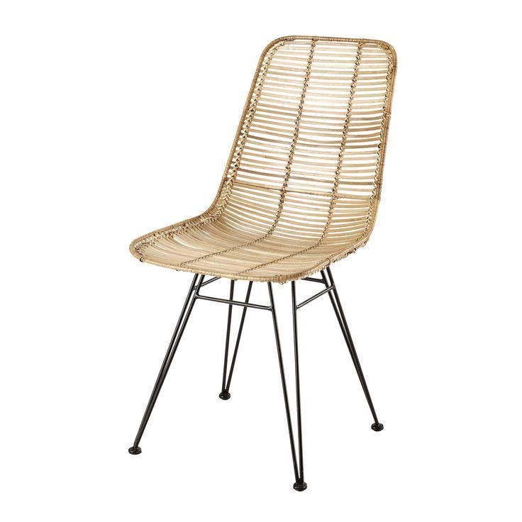 Stuhl aus Rattan und Metall Pitaya