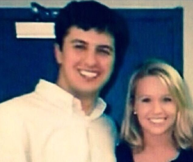 Luke Bryan and Caroline in their younger years... College?