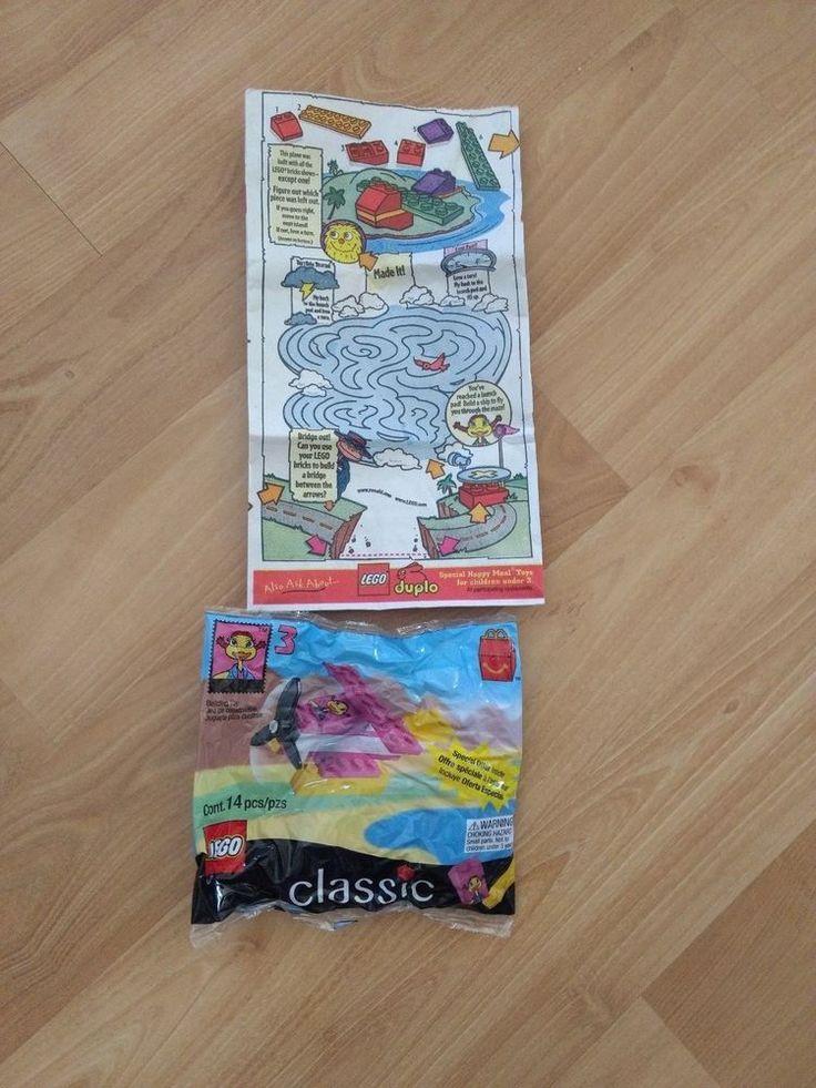 LEGO CLASSIC BUILDING TOYS~1999 McDonald Toy  #3  W/Original Paper Bag #McDonalds