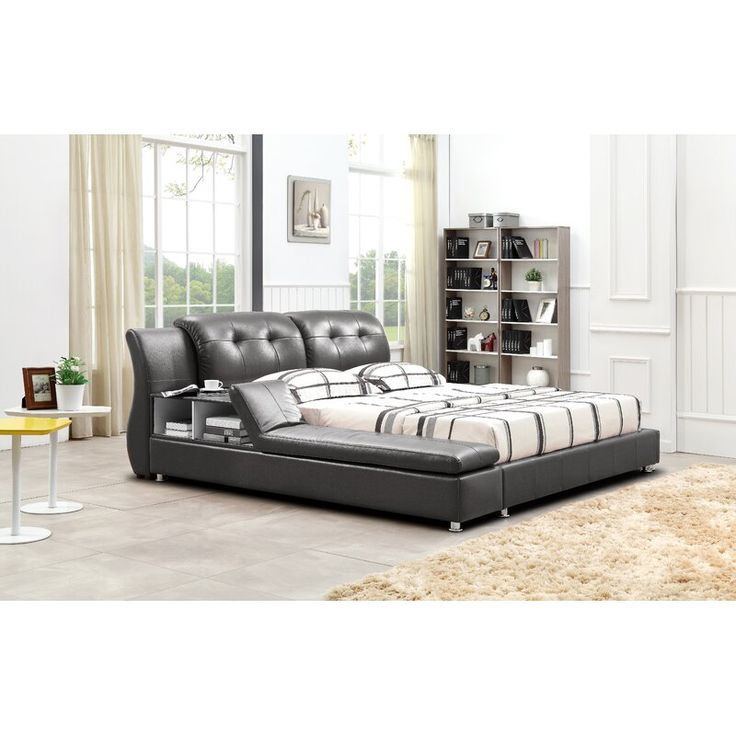 Muski Upholstered Platform Bed In 2020 Modern Platform Bed Platform Bed Upholstered Platform Bed
