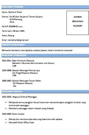 contoh resume lengkap dan terbaik tips resume