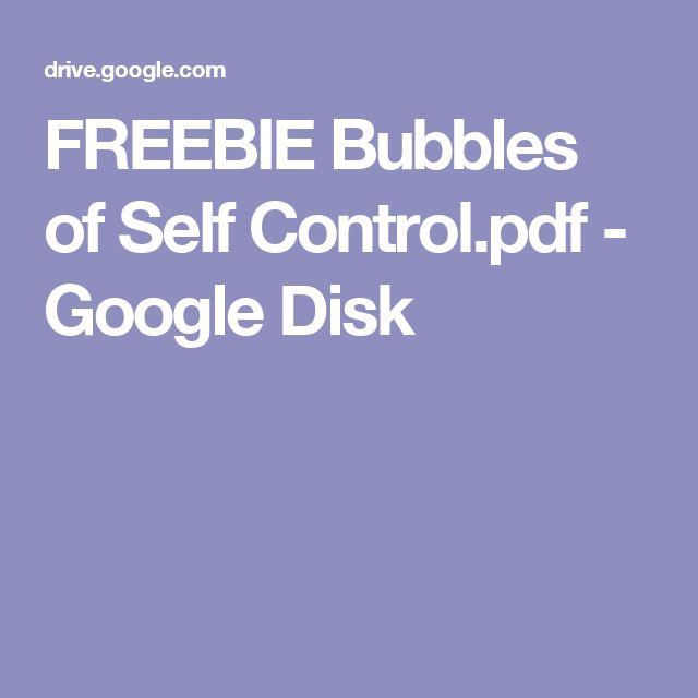 FREEBIE Bubbles of Self Control.pdf - Google Disk