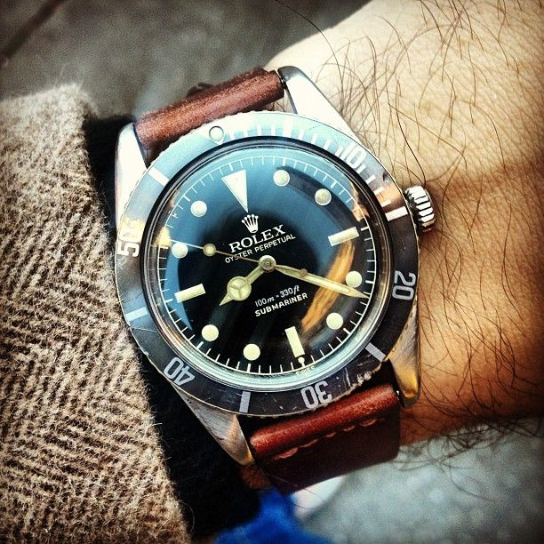 rolex submariner from 1962. classic.