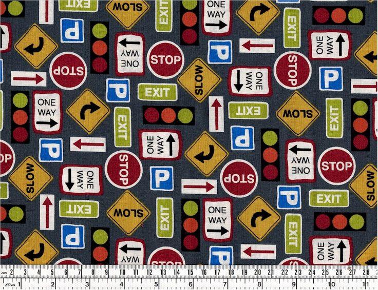 Straßenschilder auf Grau - Grey Road Signs - Autos & Trucks | Quiltzauberei - Lifestyle für Nähwittchen, Stricklieseln & Basteltanten