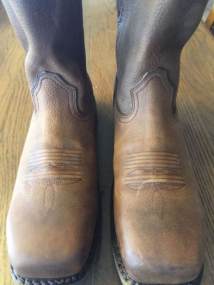 Durango Farm Amp Ranch DB005 Composite Toe Leather Unlined Western Work Boots 11M   eBay